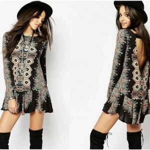 RARE Free People Smooth Talker Cut Out Tunic Dress